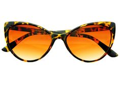 Retro Tip Pointed Large Womens Cat Eye Sunglasses Tortoise C752