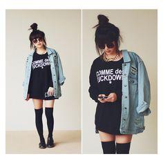 oversized denim jacket ❤ liked on Polyvore