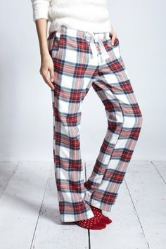 Cosy tartan pyjama bottoms- jack wills, fat face etc