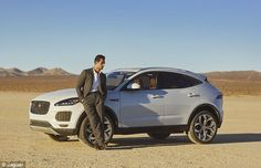 David Gandy pictured on the El Mirage dried-out lake-bed in the Californian desert during a shoot for men's magazine Nobleman