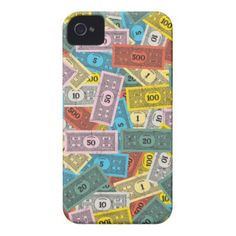 Vintage Monopoly Money iPhone 4 Covers