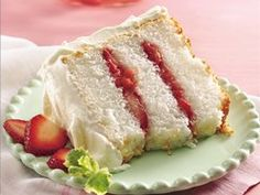 Strawberry-Rhubarb Angel Cake