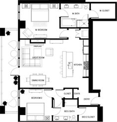 High-Rise Condo Floor Plans   Live at The Landmark