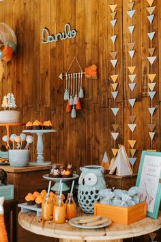 trendy ideas for baby first book fun Indian Birthday Parties, Wild One Birthday Party, Baby Boy 1st Birthday, Tribal Baby Shower, Baby Boy Shower, Tribal Theme, Tribal Style, Fox Party, Woodland Party