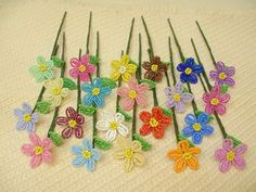 20 Mini DaisiesFrench Beaded Flowers