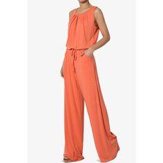 TheMogan - TheMogan Women's S~3X Casual Sleeveless Loose Wide Leg Pants Jumpsuit Lounge Jumper - Walmart.com - Walmart.com Curvy Girl Fashion, Plus Size Fashion, Fashion Fashion, Nina Leonard, Halter Jumpsuit, Jumpsuit Dressy, Plus Size Jumpsuit, Ny Collection, Flowing Dresses