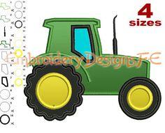 Tractor apliques diseño - 4 tamaños - archivo de diseño de bordado de máquina                                                                                                                                                      Más
