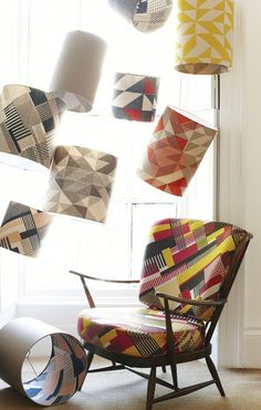 Tamasyn Gambell | Simple Geometry | Axis Chair and Lampshades | www.tamasyngambell.com