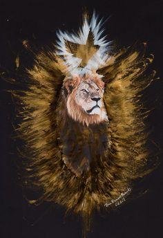 Cecil the Lion has been PeaceBombed  #art #lion #peace #thepeacebomb #cecil #animlas #decor #king #artwork
