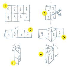 lingonsmak: Wie aus einem DinA4-Blatt ein 8-seitiges Heft wird