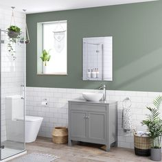 A large traditional style grey vanity unit, the Melbourne basin vanity unit has double doors & lots of storage space! Grey Vanity Unit, Sink Vanity Unit, Bathroom Vanity Units, Bathroom Tiling, Bathroom Storage, Countertop Basin, Grey Countertops, Grey Cupboards, Grey Furniture