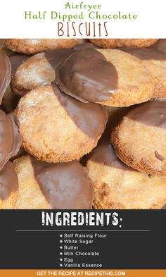 Airfryer Recipes | Airfryer half dipped chocolate biscuits recipe from…