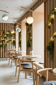 restaurant interieur BAO MOCHI Restaurant in Saint Petersburg, Russia by Marat Mazur Interior Design Coffee Shop Interior Design, Interior Design Minimalist, Coffee Shop Design, Restaurant Interior Design, Commercial Interior Design, Design Shop, Interior Shop, Coffee Shop Interiors, Design Design