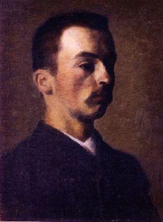 Self Portrait' by Vilhelm Hammershoi, 1890.