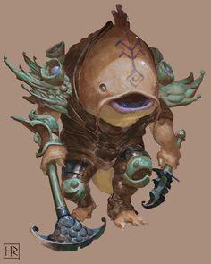 Oroca warrior concept by Henrik Rosenborg Fantasy Character Design, Character Design Inspiration, Character Concept, Character Art, Fantasy Monster, Monster Art, Creature Concept Art, Creature Design, Fantasy Beasts