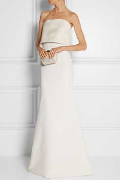 Fashion - Victoria Beckham|Silk and wool-blend gown|Dresses - NET-A-PORTER