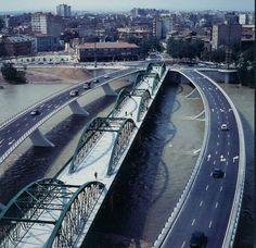 Ebro, Sidewalk, Zaragoza, Bridges, Fotografia, Photos, Antigua, Walkway, Pavement
