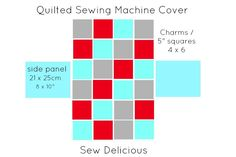 Sew Delicious: Quilted Sewing Machine Cover - Tutorial