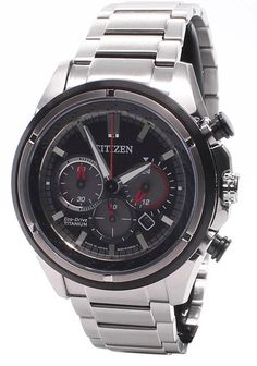 Citizen Mens Eco Drive Titanium Chronograph Watch - In Stock, Free Next Day Delivery, Our Price: Buy Online Now Stylish Watches, Cool Watches, Watches For Men, Citizen Eco, Casio Watch, Chronograph, Smart Watch, Citizen Watches, Stuff To Buy