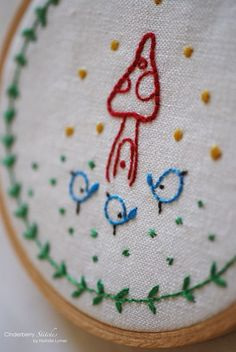 free pattern from Cinderberry Stitches ~ one wee home
