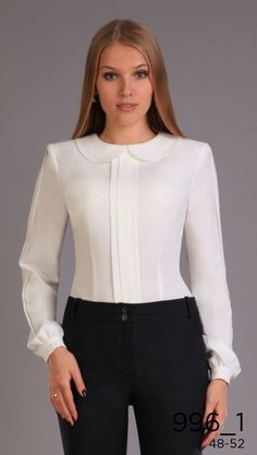 Black And White Minimalist Outfit Ideas Work Fashion, Hijab Fashion, Fashion Dresses, Fashion Design, Blouse Styles, Blouse Designs, New Mode, Blouse Outfit, Office Outfits