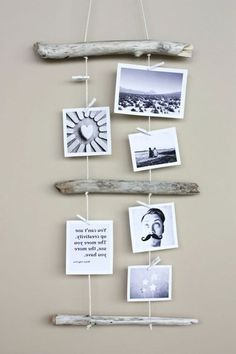 Travel Photos Display Inspiration 51 Ideas For 2019 Photo Wall Hanging, Hanging Photos, Diy Photo, Photo Displays, Diy Gifts, Diy Home Decor, Diy And Crafts, Wood Crafts, Wall Decor