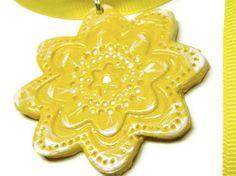 Sunshine Flower Pendant by gr8byz on Etsy, $13.50 #circle1 #doncasterisgreat