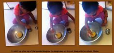 Kids helping while making dough - improves motor skills and concentration