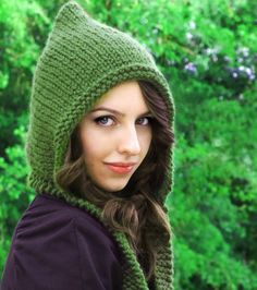 Pixie Hood Knitting Pattern