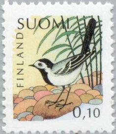 Issued in 1992, Suomi - White Wagtail (Motacilla alba)