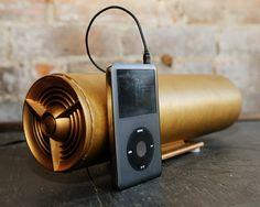 mp3 / computer speaker from vintage radio speaker tube. $95.00, via Etsy.