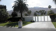 "JANET LEIGH & TONY CURTIS -  641 North Camino Real, Palm Canyon, Palm Springs. Movie Colony Neighborhood. Couple bought this 4 bed, 4 bath home, named ""Camp Curtis,"" brand new in in 1960 for $46,000. It has 3,204sf of space and apool on a 13,504sf lot. They are shown here with daughters Kelly and Jamie Lee who shared the home with Curtis & Lee until they divorced in 1962. Leigh sold it 2 years later"