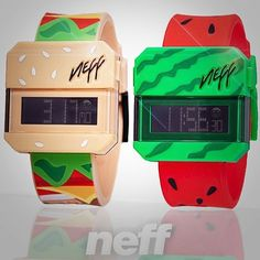 Get your burger and watermelon on this summer with these Neff Digi watches