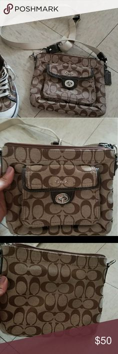 Coach purse crossbody Authentic cross body bag I do have matching sneaker if interested Coach Bags Crossbody Bags