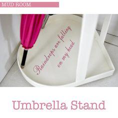 Umbrella Stand by Torie Jayne Diy Design, Interior Design, Design Ideas, Heart Decorations, Craft Storage, Home Decor Inspiration, Mudroom, Decorative Accessories, Plastic Cutting Board