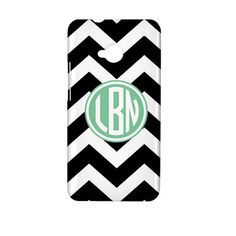 Monogram Chevron HTC One (M7) Phone Case