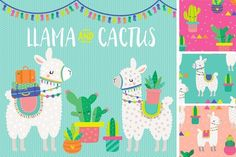 A super cute collection of cool cactus and llama illustrations and pretty papers to match. Includes 15 clipart elements in both PNG, EPS and AI form and 5 Seamless Patterns in AI form, EPS Pencil Illustration, Character Illustration, Graphic Illustration, Digital Illustration, Cactus Illustration, Alpacas, Llama Clipart, Cactus Clipart, Mermaid Invitation