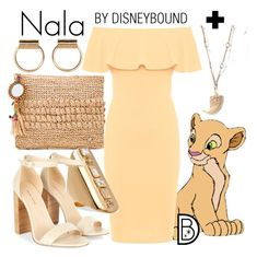 """""""Nala"""" by leslieakay ❤ liked on Polyvore featuring Flora Bella, WearAll, Elizabeth and James, disney, disneybound and disneycharacter"""