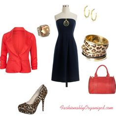 Little Black Dress Meets Red & Leopard