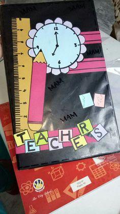 Attendance Register Art File Quilling Flowers School Bulletin Boards Notebook Covers