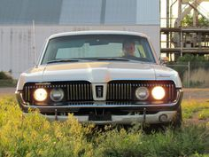 The famous hideaway headlights of the Mercury Cougar