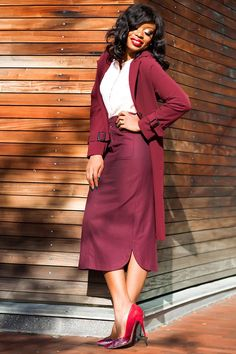 Work Style: Burgundy Mix