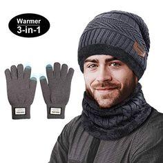 Offerta di oggi - TedGem Cappello Uomo Invernali in Maglia con Sciarpa b2508abce517