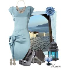 """Santorini Ocean View"" by anna-campos on Polyvore"