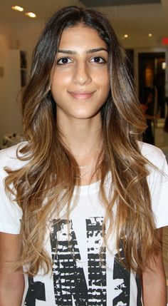 dark ombre with caramel tips