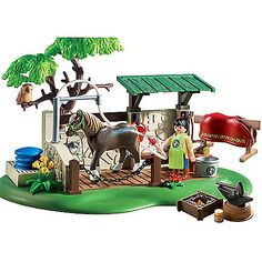 Keep your prize horses in tip-top shape with the Playmobil Horse Care Station. Perfect for imaginative play, the spacious horse care station has everything kids need to keep their horses happy and health. Playmobil Toys, Diy Barbie Furniture, Gifts For Horse Lovers, Preschool Toys, Cute Toys, Horse Farms, Heart For Kids, Toys R Us, Imaginative Play