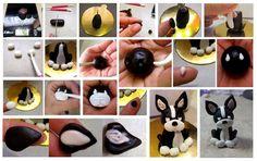 Boston terrier fondant figura készítés Sugart Dorka készítette  képes segítséget:-)