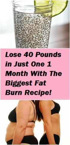 Lose 40 Pounds in Just 1 Month with the Biggest Fat Burn Recipe fat burning remedies Weight Loss Meals, Weight Loss Drinks, Weight Loss Tips, Chia Seed Recipes For Weight Loss, Rapid Weight Loss Diets, Losing Weight, Weight Gain, Menu Dieta, Banana Drinks