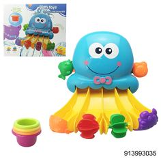 Christmas promotional gift plastic bath toy waterwheel animal octopus water slide - china Bath Toys manufacturer - Shantou Bana Import & Export Co., Ltd