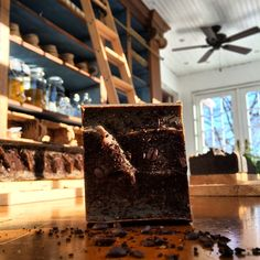 Artisan organic Coffee with Peppermint soap bar from batch.organic